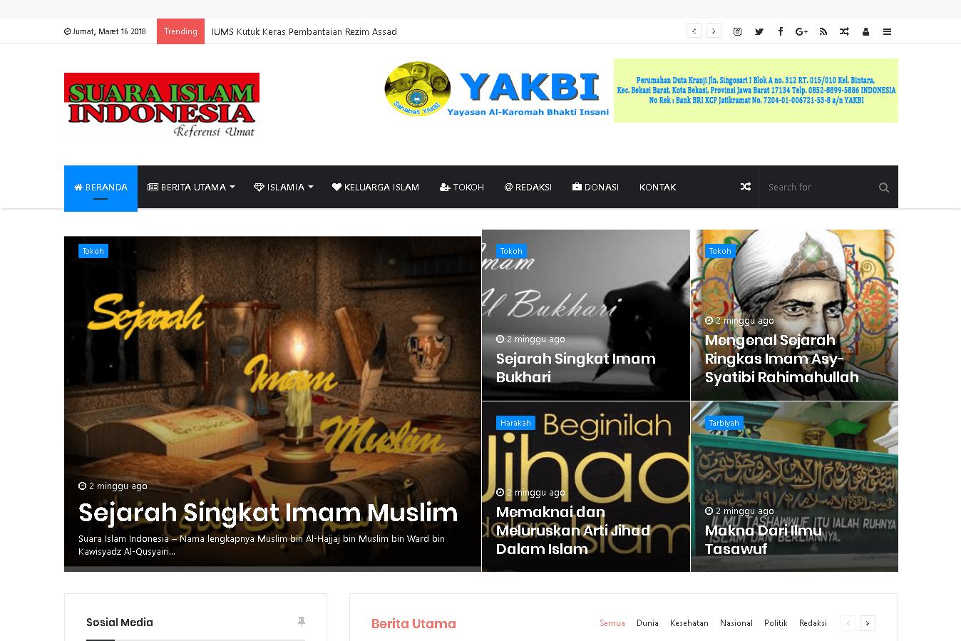 Web Suara Islam Indonesia