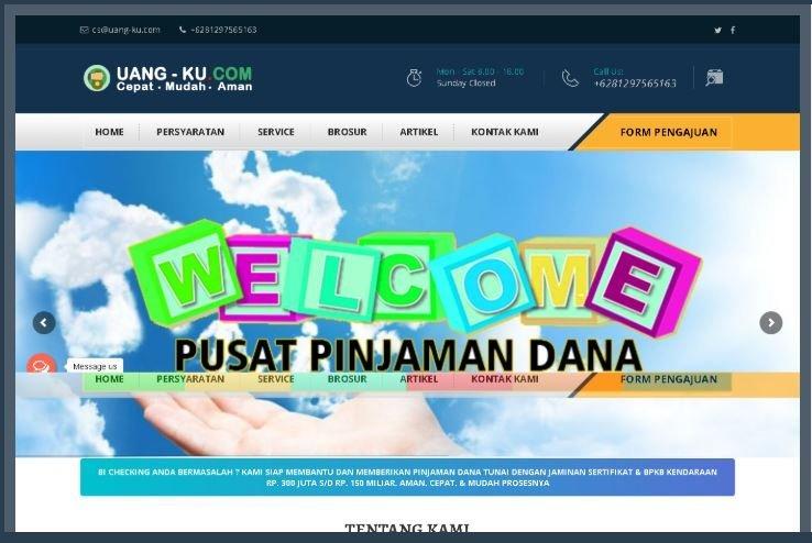 Website Pinjaman Dana Tunai Uang-ku.com