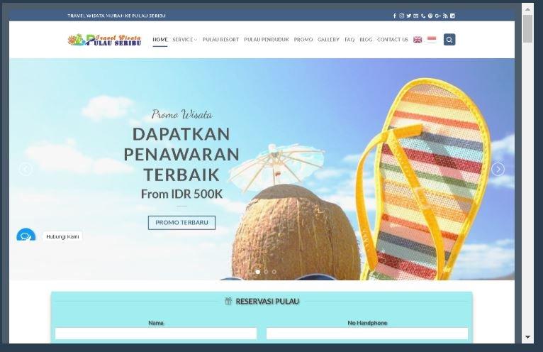 Website Pulau Seribu Travel