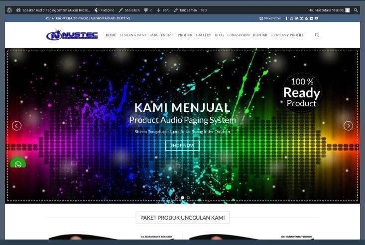 Website Nustec Co ID