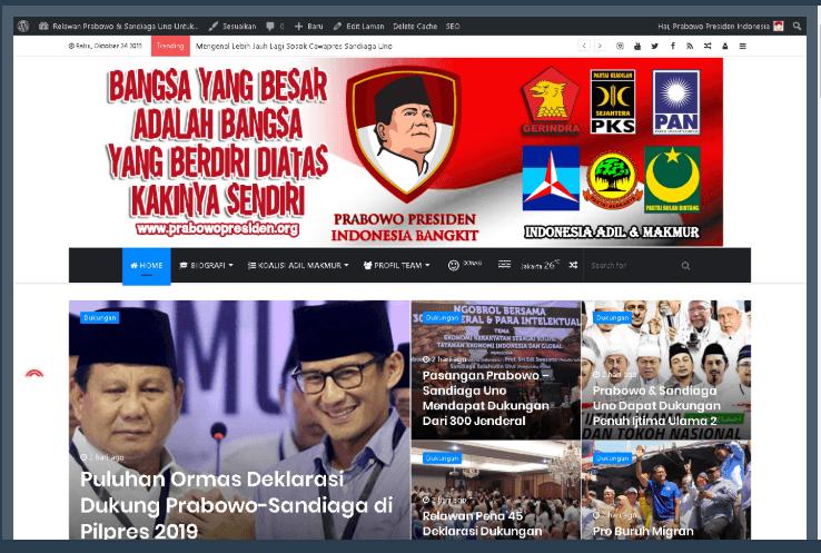 Portal Relawan Prabowo Presiden Indonesia