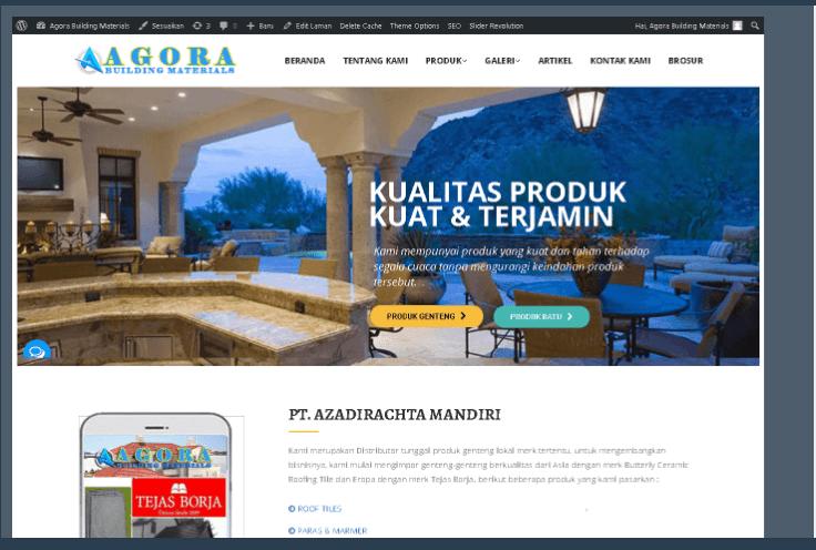 Website Agora Building Materials
