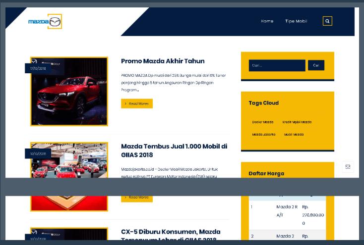 Website Mazda Jakarta Selatan