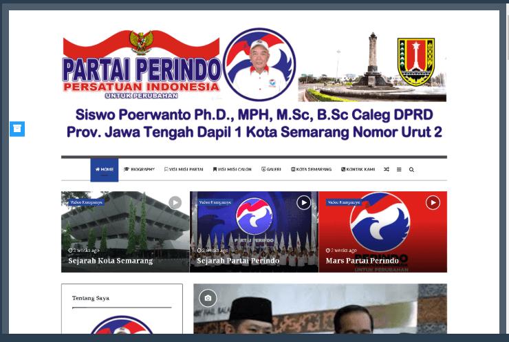 Website Siswo Poerwanto Ph.D., MPH, M.Sc, B.Sc