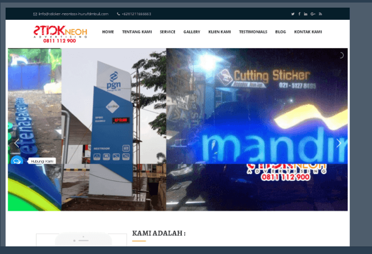 Website Stick Neoh Advertising
