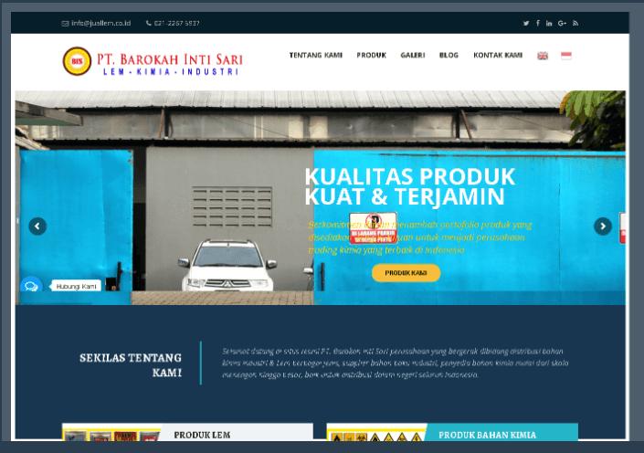 Website PT Barokah Inti Sari - Juallem.co.id