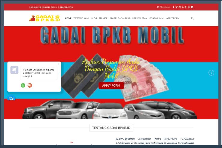 Website Gadai BPKB Mobil Jakarta