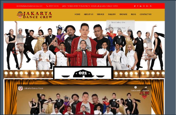 Website Jakarta Dance Crew