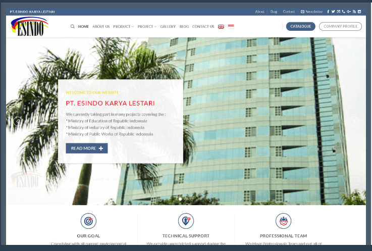 Website PT Esindo Lestari