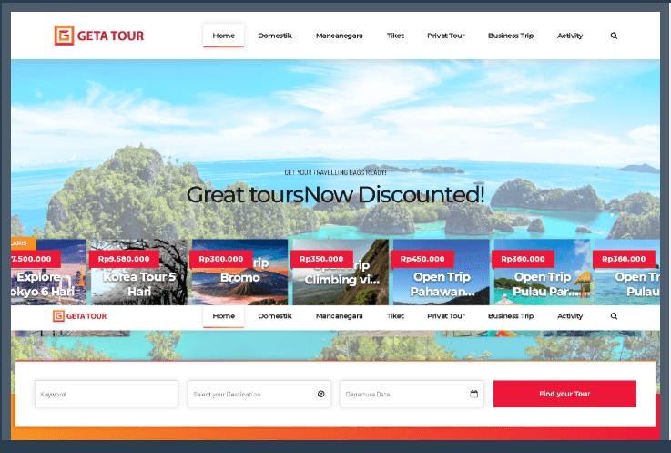 Website Travel Wisata Indonesia Dan Mancanegara