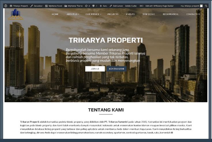 Website Trikarya Properti