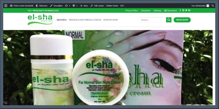 Website Resmi Distributor Elsha Miracle Cream