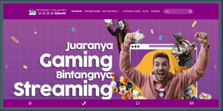 Internet Murah Unlimited & TV Kabel Hiburan Keluarga